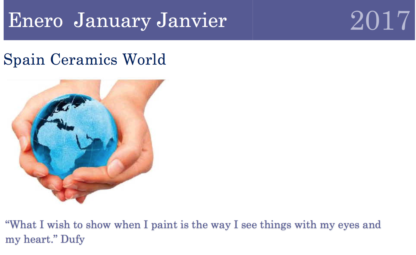 January Spain Ceramics World