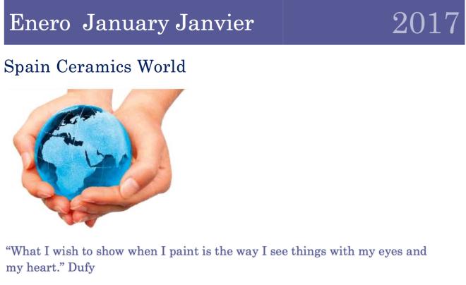 January Spain Ceramics World
